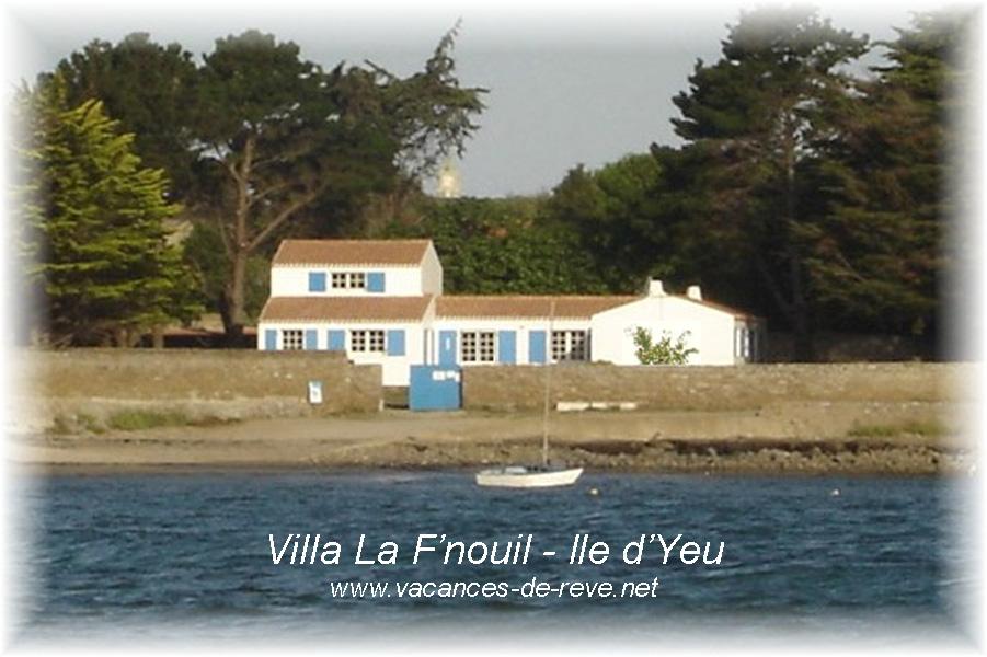 villa la f'nouil : location de vacances sur l'île.. à l'île d'yeu