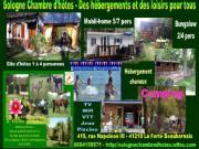 Location gîte, chambres d'hotes Location Chalet et Mobil-Home en Sologne entre de Lamotte-Beuvron et Chambord dans le département Loir et Cher 41