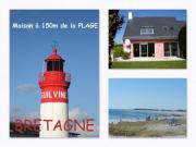 Location gîte, chambres d'hotes PLAGE à 150m ~ Vacances en BRETAGNE ~ bord de MER dans le département Finistère 29